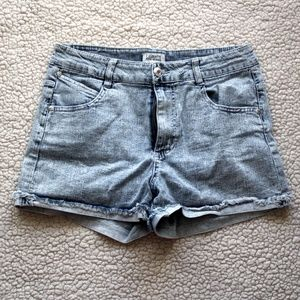 Celebrity Pink High Waisted Acid Wash Jean Shorts